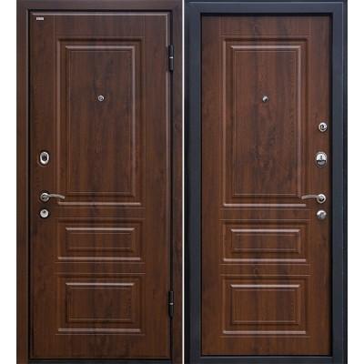 Входная металлическая дверь МеталЮр М11 (Тёмный орех)