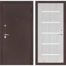 Входная дверь Лабиринт CLASSIC антик медный 01 - Сандал белый