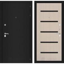 Входная дверь Лабиринт CLASSIC шагрень черная 01 - Беленый дуб