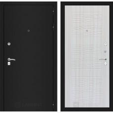 Входная дверь Лабиринт CLASSIC шагрень черная 06 - Сандал белый