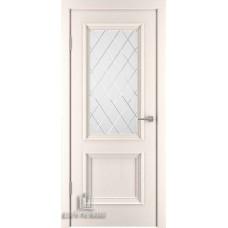 Дверь межкомнатная Бергамо 4, цвет: Слоновая кость (Ral 9001)