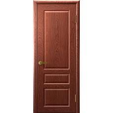 Дверь межкомнатная Валенсия 2, цвет: Красное дерево