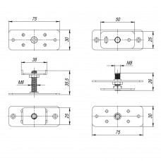 Комплект монтажных пластин для стационарного полотна Comfort-PRO/Telescope