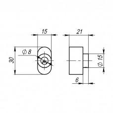 Вертушка на цилиндр CB-S-BPVD-77Вороненый никель