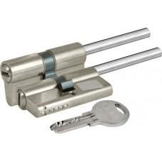 Цилиндровый механизм под вертушку (дл.шток) 164 SX/76 (40+10+26) mm никель 5 кл.