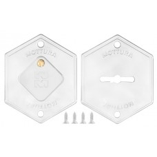 Комплект накладок на сувальдный замок 95.299 (ХРОМ), 2 шт