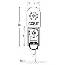 Автоматический порог EASY TREND SQ cod. ASTDSQ, B4/1130