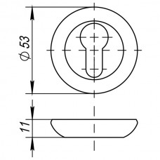Накладка под цилиндр ET JR BL-24 черный