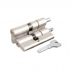 Цилиндровый механизм под вертушку Cisa ASIX OE302-29.12 (90 мм/40+10+40), НИКЕЛЬ