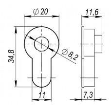 Вставка под шток для CYLINDER BL-26 Черный