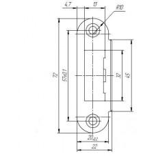 Ответная планка SP-R72/R20 SN для дверей с четвертью тех. упаковка