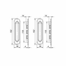 Ручки для раздвижных дверей Soft LINE SL-010 BL