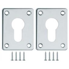 Декоративная накладка ESC083-CP-8 (ХРОМ) на цилиндр сталь (2 шт.)