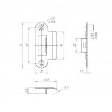 Ответная планка SP-F72/R20 SN тех. упаковка