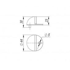 Упор дверной DS PF-50 GR-23 графит